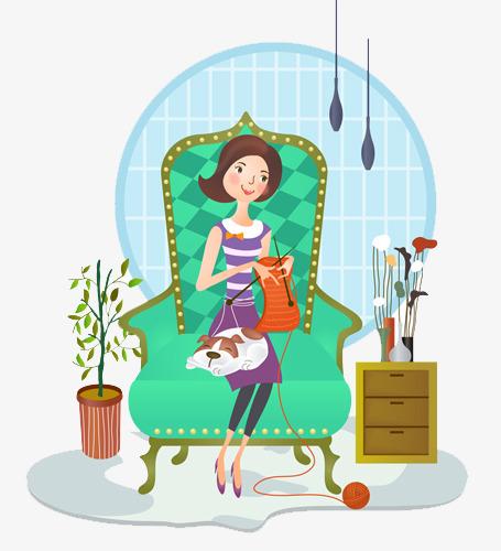 kniting-handicraft-cartoon